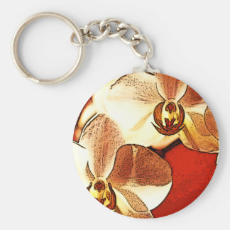 Orchid Basic Round Button Key Ring