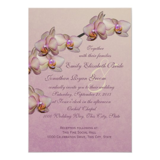 Orchid Beauty Wedding Card