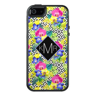 Orchid Begonia And Palm Leaves | Monogram OtterBox iPhone 5/5s/SE Case