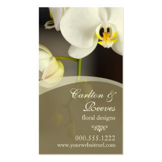 Orchid Blooms 2 Business Cards