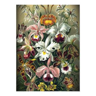 Orchid Botanical Print 14 Cm X 19 Cm Invitation Card