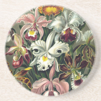 Orchid Botanical Print Coaster