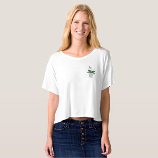 Orchid Boxy Crop Top