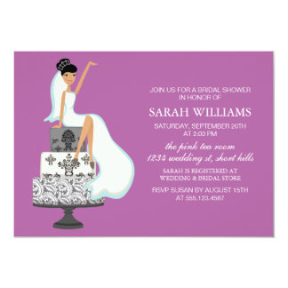 Orchid Bride on Wedding Cake Card