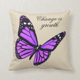 Orchid Butterfly Throw Pillow