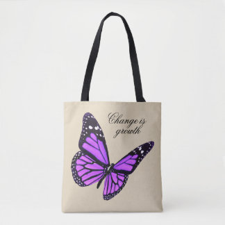 Orchid Butterfly Tote
