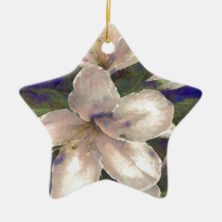 Orchid Ceramic Star Decoration