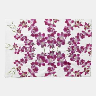 ORCHID : Cymbids Golden Shower Flower Tea Towel