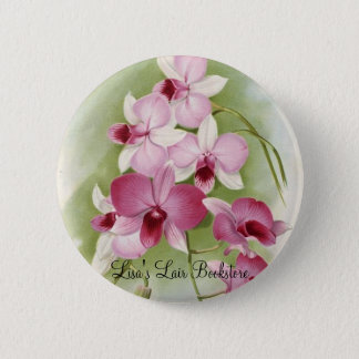 Orchid - DendrobiumPhalaenopsis 6 Cm Round Badge
