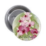 Orchid - DendrobiumPhalaenopsis 6 Cm Round Badge
