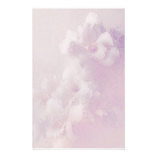 orchid dreams pale pink customised stationery