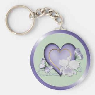 Orchid Elegance Key Ring