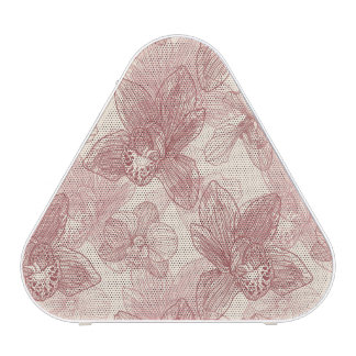 Orchid Engraving Pattern On Beige Background