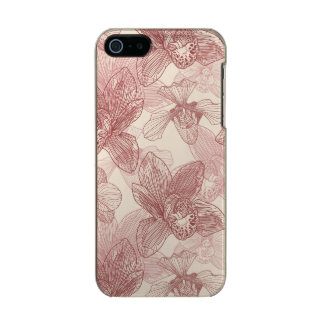 Orchid Engraving Pattern On Beige Background Incipio Feather® Shine iPhone 5 Case