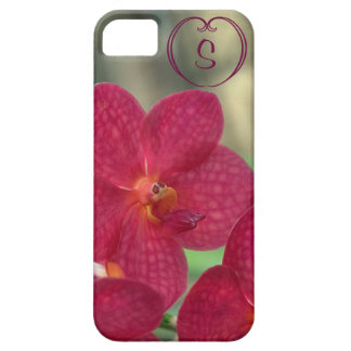Orchid Faces monogram pink iPhone 5 5S iPhone 5 Case