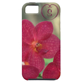 Orchid Faces monogram pink iPhone 5 5S Tough Case For The iPhone 5
