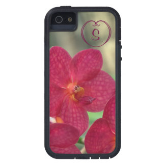 Orchid Faces monogram pink iPhone 5 5S Tough Xtrem iPhone 5 Cover