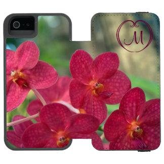 Orchid Faces Monogram pink iPhone 5 5s Watson Incipio Watson™ iPhone 5 Wallet Case