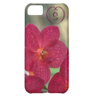 Orchid Faces monogram pink iPhone 5C iPhone 5C Case