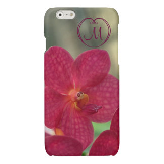 Orchid Faces monogram pink iPhone 6 glossy iPhone 6 Plus Case