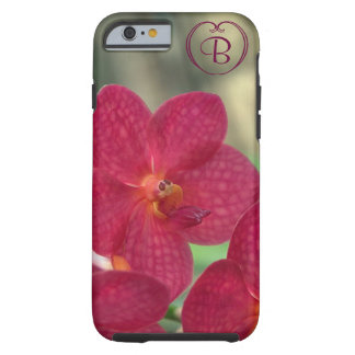 Orchid Faces monogram pink iPhone 6 Tough Tough iPhone 6 Case