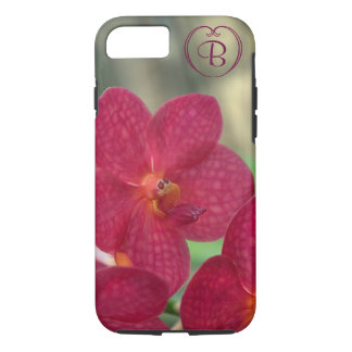 Orchid Faces monogram pink iPhone 7 Tough iPhone 7 Case