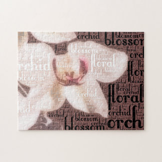 Orchid Floral Blossom Word Cloud Puzzles