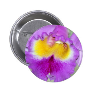 Orchid flower and meaning 6 cm round badge