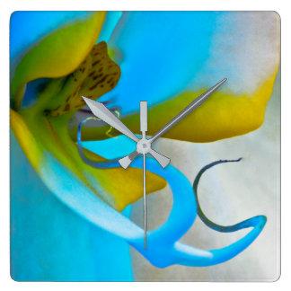Orchid Flower Art Clock