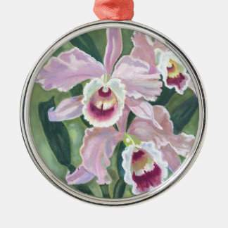 Orchid flower christmas ornament