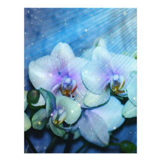 "Orchid Flower 8.5"" X 11"" Flyer"