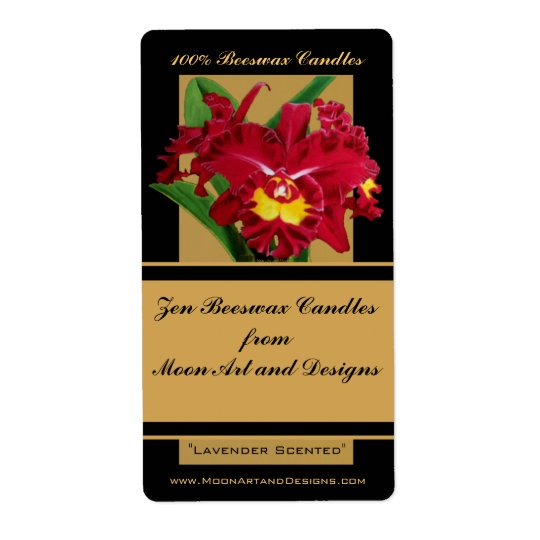 Orchid Flower Painting Craft or Wine Label 1 Shipping Label