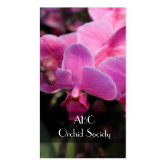 orchid flower society business card templates