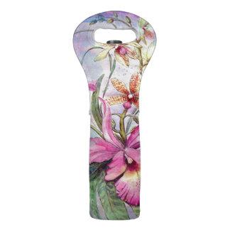 Orchid Flower Wine Bag