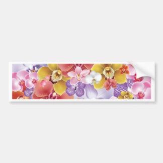 Orchid Flowers Design Floral Print Bumper Sticker
