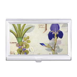 Orchid & Fumitory or Bleeding Heart Hedera & Iris Business Card Holder