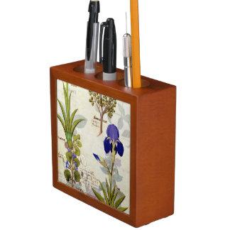 Orchid & Fumitory or Bleeding Heart Hedera & Iris Desk Organiser