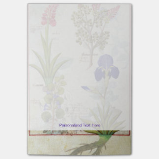 Orchid & Fumitory or Bleeding Heart Hedera & Iris Post-it Notes