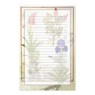 Orchid & Fumitory or Bleeding Heart Hedera & Iris Stationery