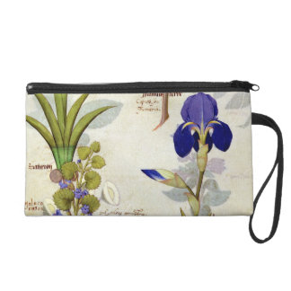 Orchid & Fumitory or Bleeding Heart Hedera & Iris Wristlet Purses