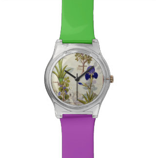 Orchid & Fumitory or Bleeding Heart Hedera & Iris Wristwatches
