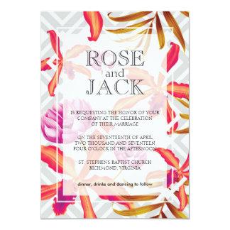 Orchid Garden Wedding Invitation Card