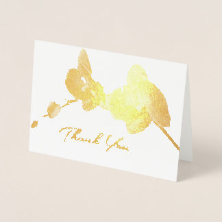 Orchid Gold Foil Wedding All-Purpose Thank You Foil Card