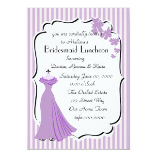 Orchid Gown Bridesmaid Card 11 Cm X 16 Cm Invitation Card