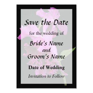 Orchid Harold Carls Save the Date 13 Cm X 18 Cm Invitation Card