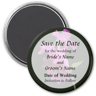 Orchid Harold Carls Save the Date 7.5 Cm Round Magnet