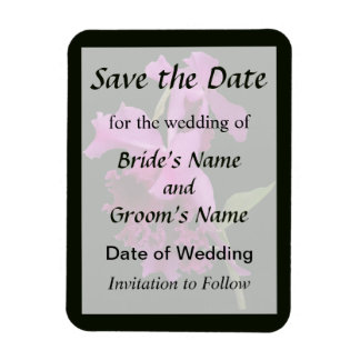 Orchid Harold Carls Save the Date Rectangular Photo Magnet