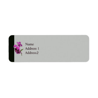 Orchid Harold Carls Save the Date Return Address Label