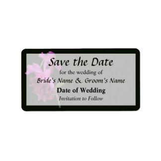 Orchid Harold Carls Save the Date Address Label