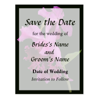 Orchid Harold Carls Save the Date Postcard